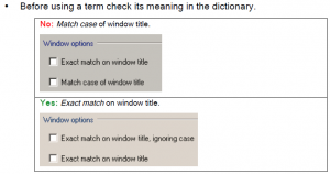 style guide for controlled language_match case
